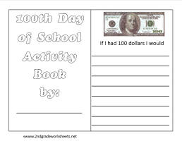 Printables 100th Day Of School Worksheets 100th day of school worksheets and printouts activity booklet