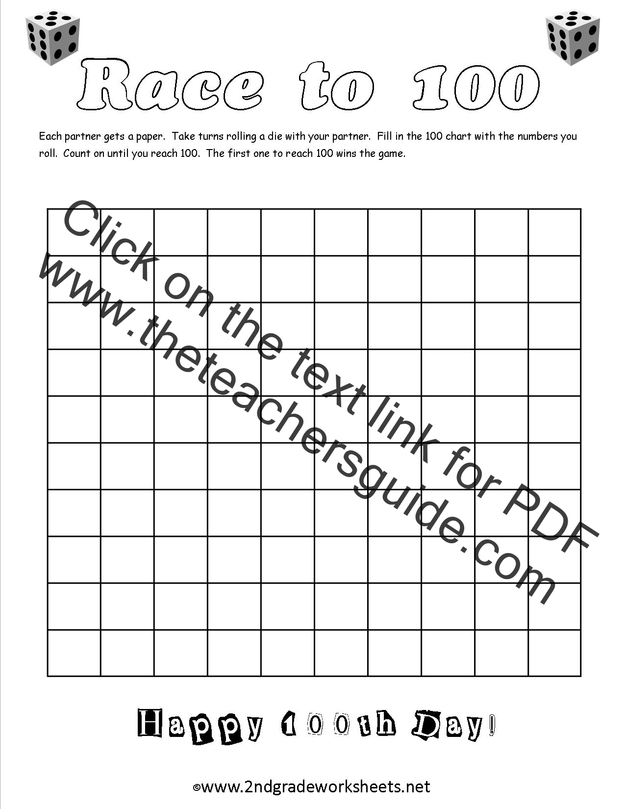 100th Day of School Worksheets and Printouts – 100th Day of School Math Worksheets