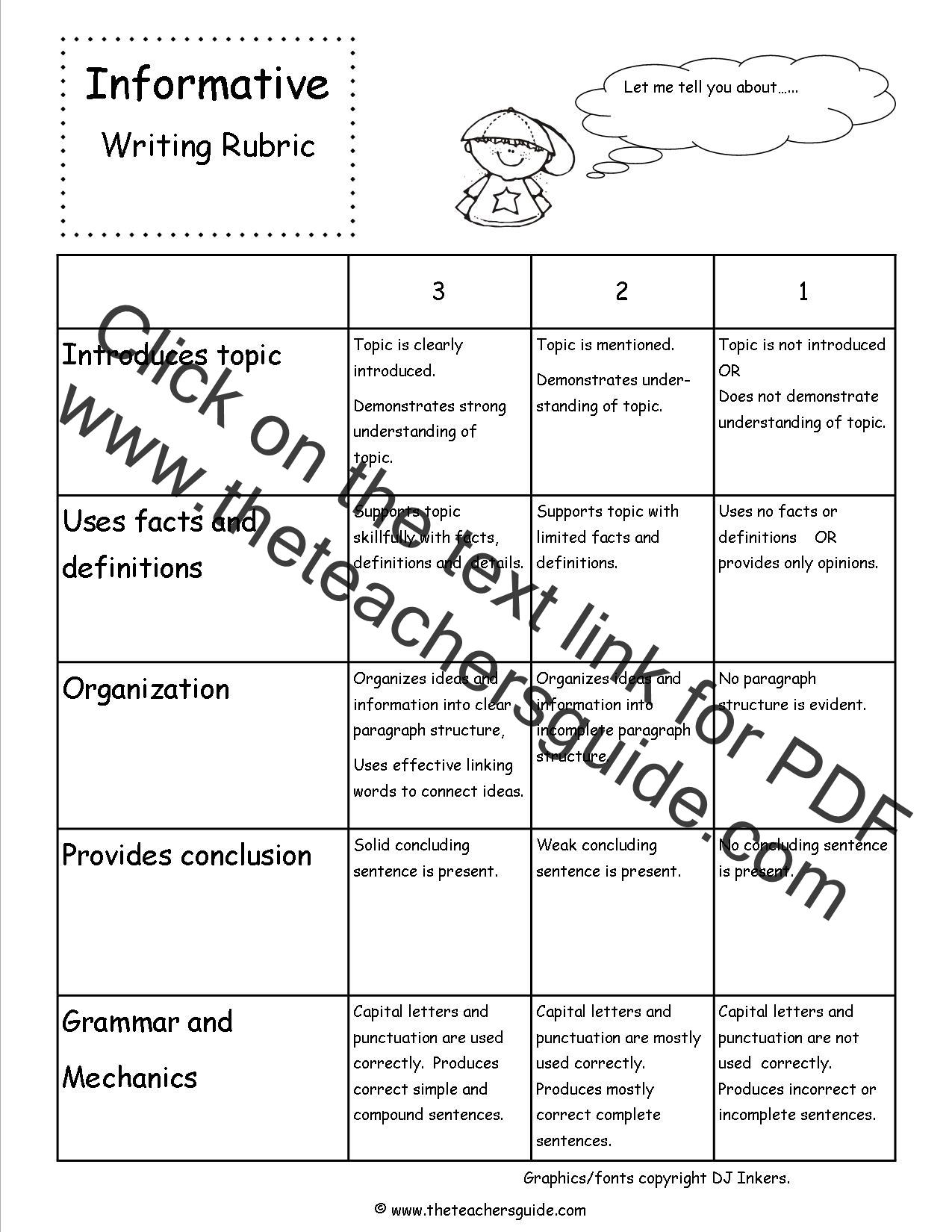 writing rubric for 5th grade Grades 4 -5-6 persuasive writing rubric focus content & development organization style (voice) conventions (grammar, punctuation, capitalization, mechanics.
