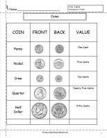 coins worksheet