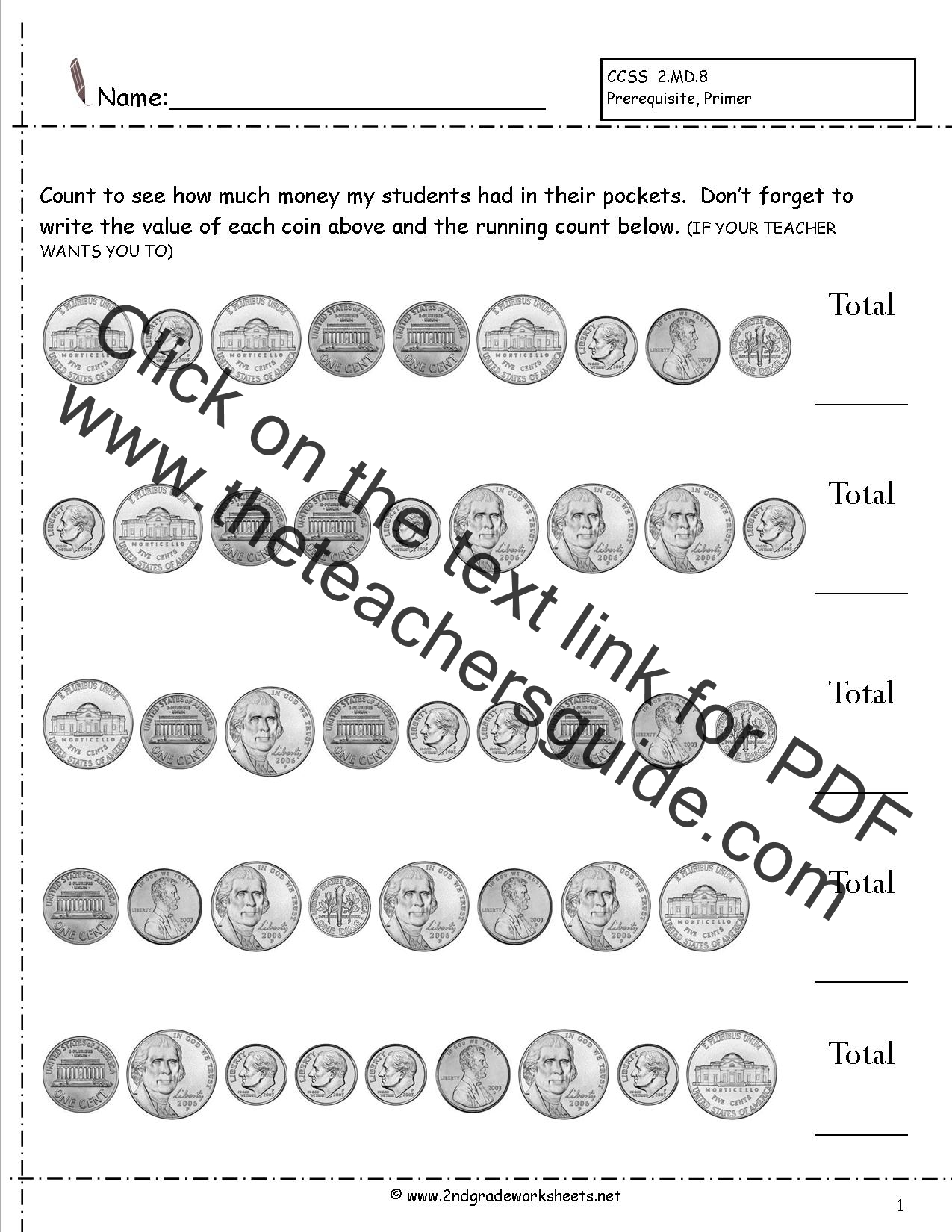... Coins Worksheets 2nd Grade. on counting money worksheets for math
