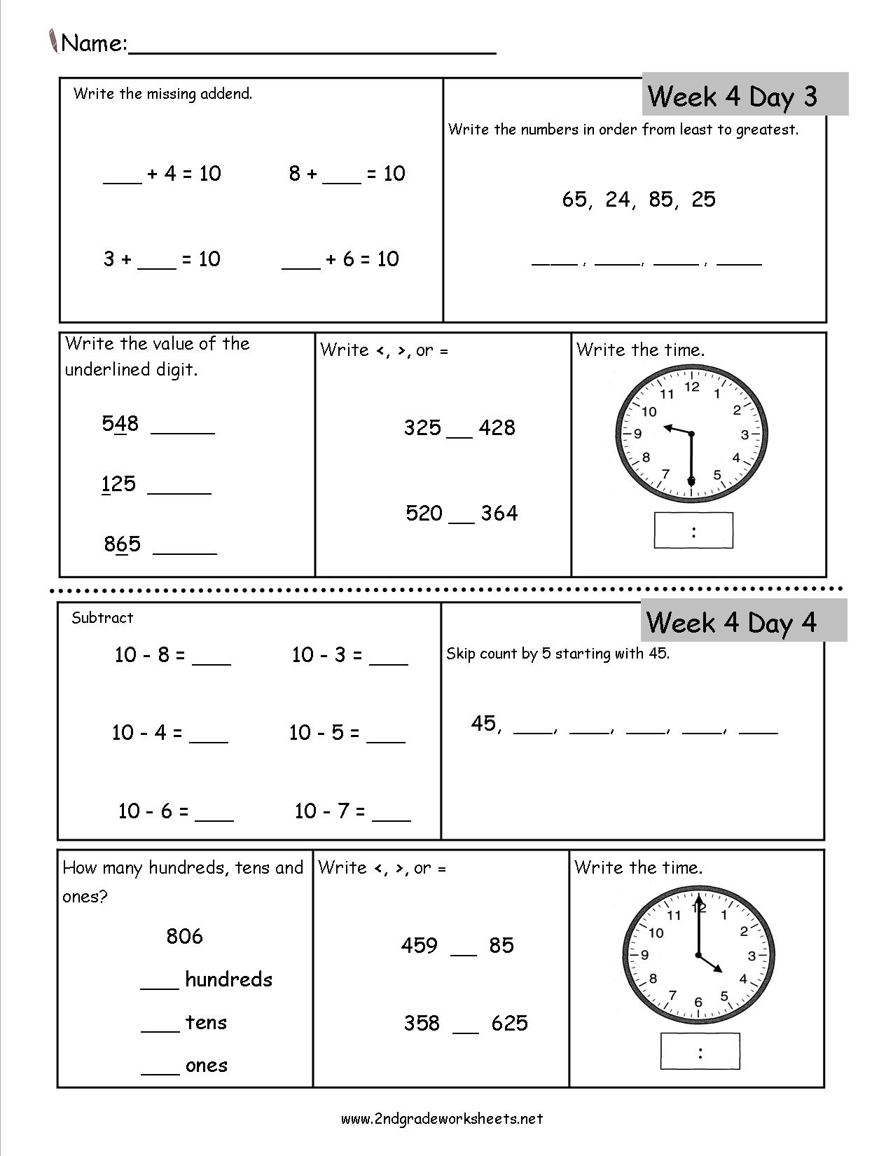 Calendar Math 5th Grade Worksheet : Search Results ...