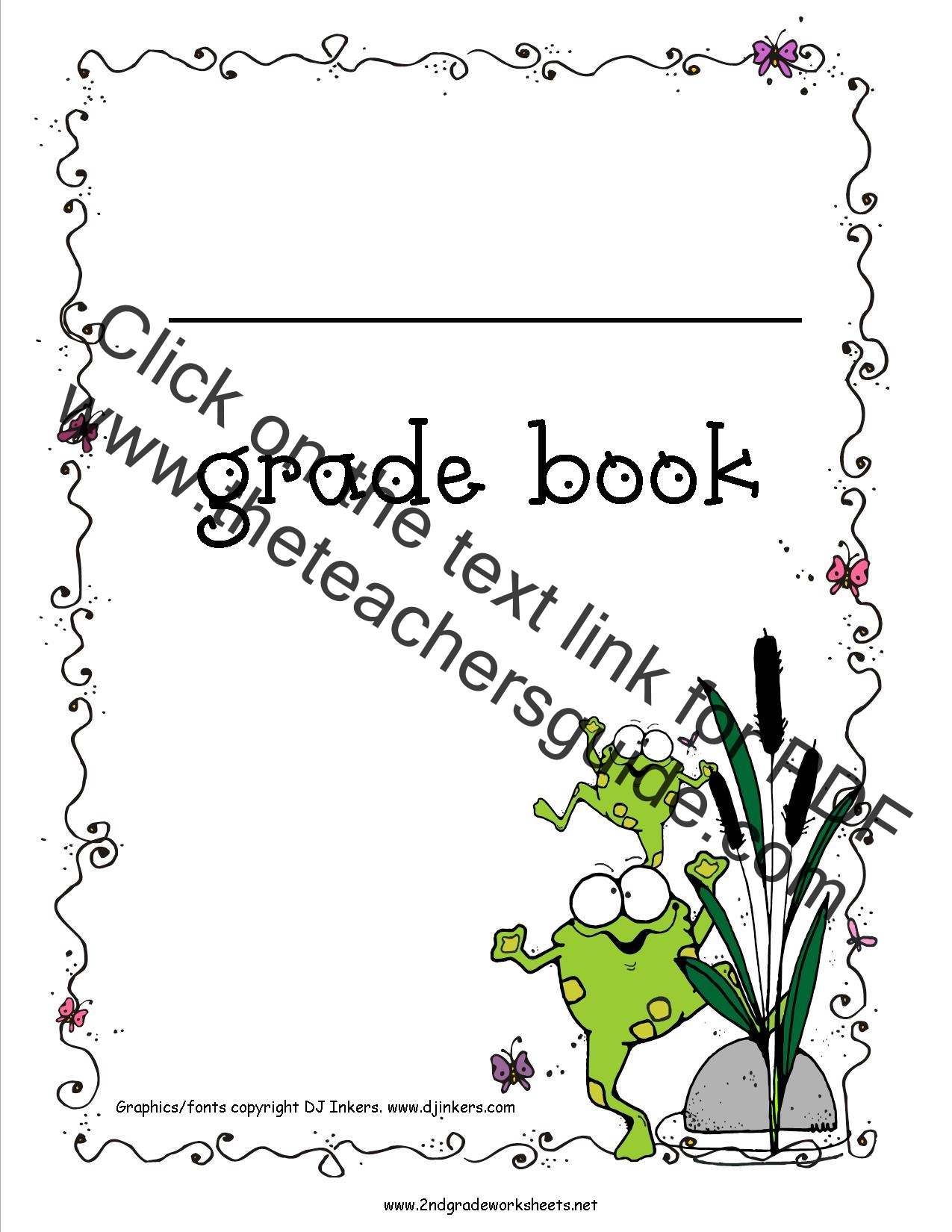 picture relating to Printable Grade Books identified as Absolutely free Quality E book Printouts
