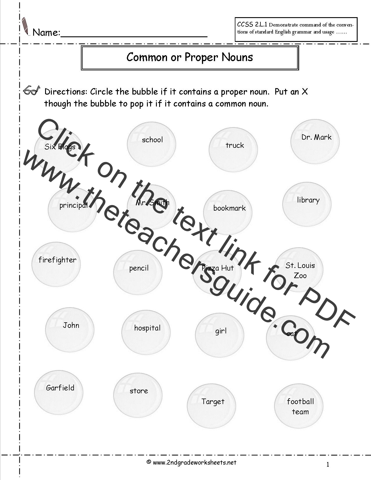 Common And Proper Nouns Worksheet Common and proper nouns