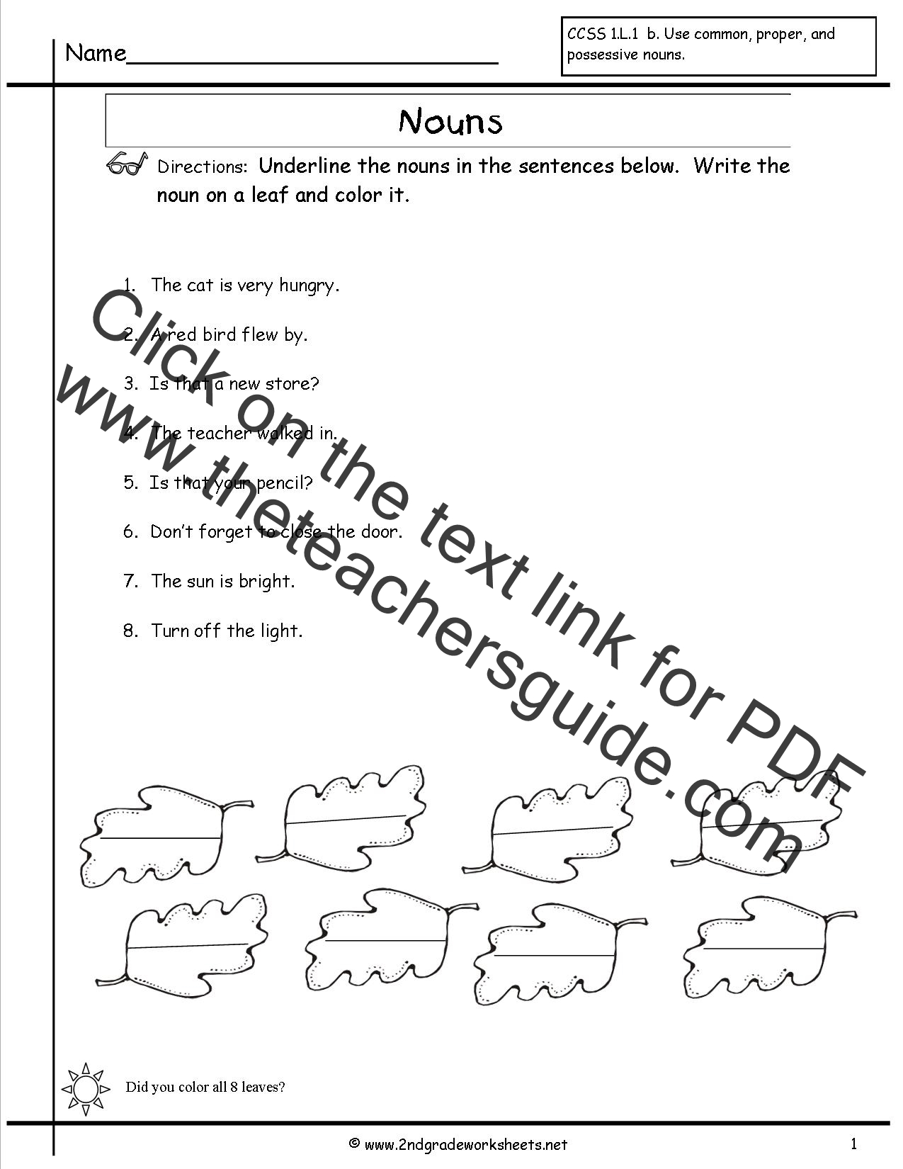 Printables Worksheets For Nouns nouns worksheets and printouts worksheet