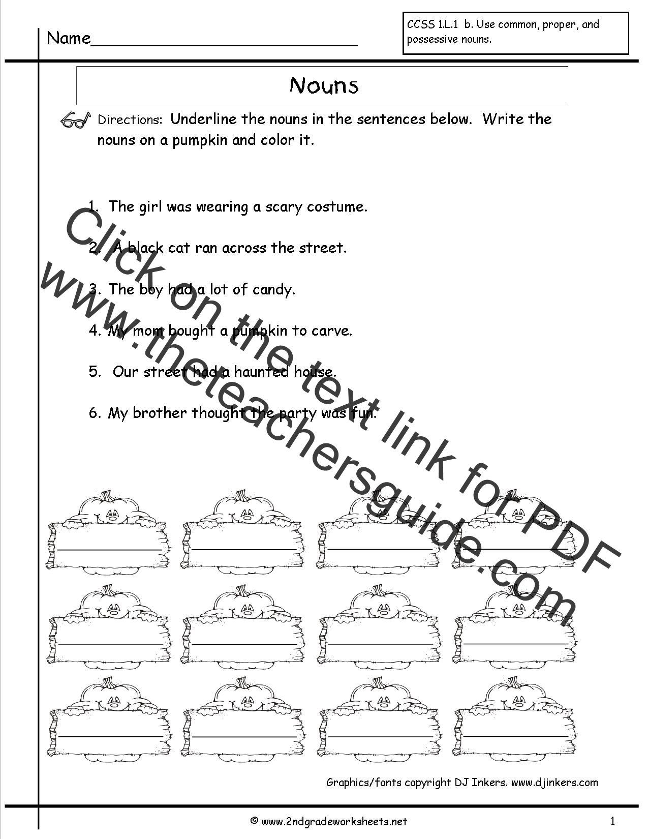 Worksheet Nouns Worksheets For Grade 1 nouns worksheets and printouts worksheet