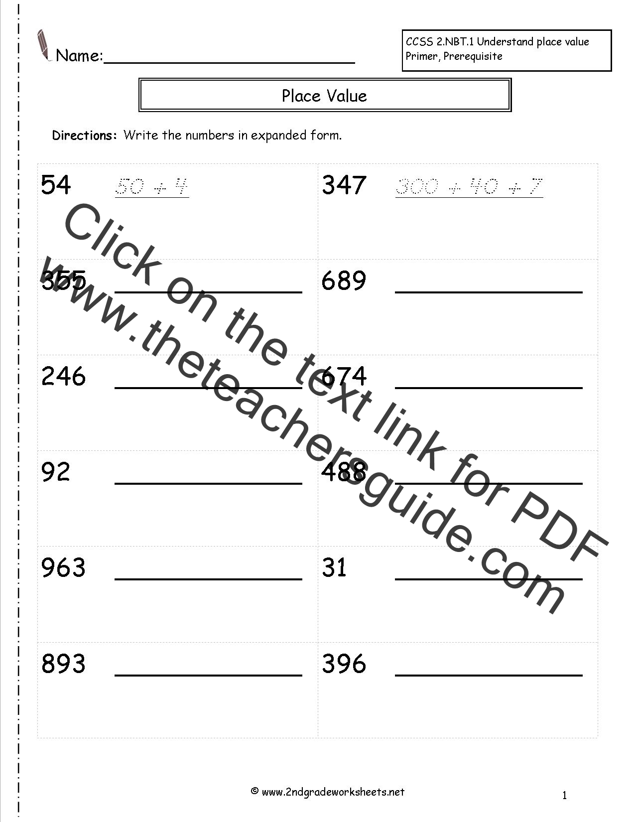 Decimals In Expanded Form Worksheets standard form worksheets – Reading and Writing Decimals Worksheet