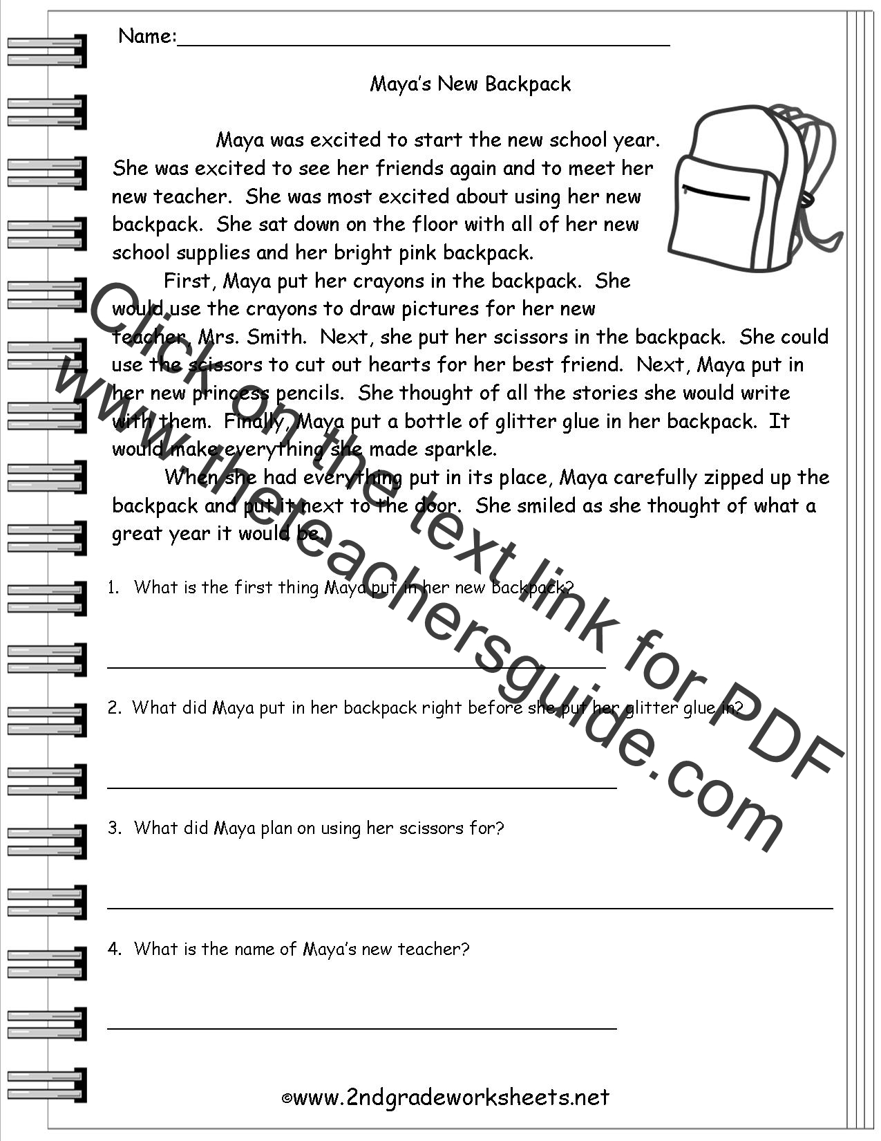 Worksheets Free Printable Reading Comprehension Worksheets For 5th Grade worksheet reading comprehension passages for 3rd grade wosenly 3 download pdf printable worksheets 4